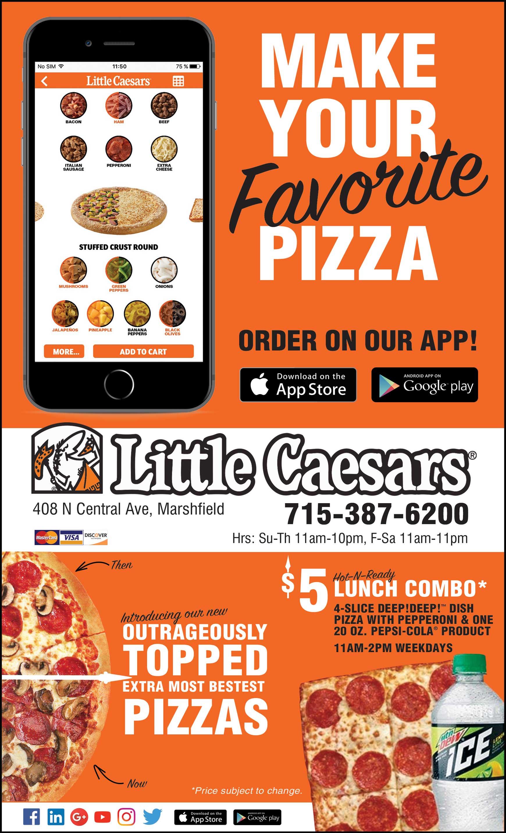Little Caesars Menu Restaurant Stratford